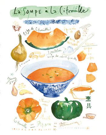 Pumpkin Soup - 8x10 Print, $37