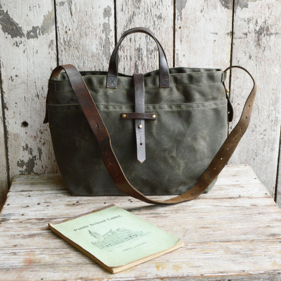 Waxed Canvas tote, $240