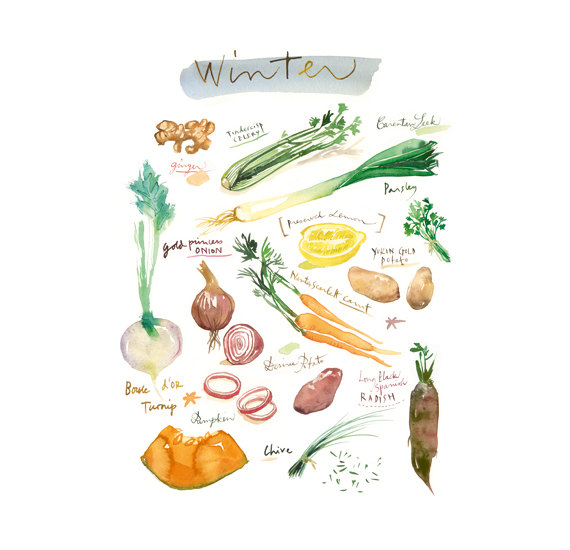 Winter Veggies - 8x10 print, $37