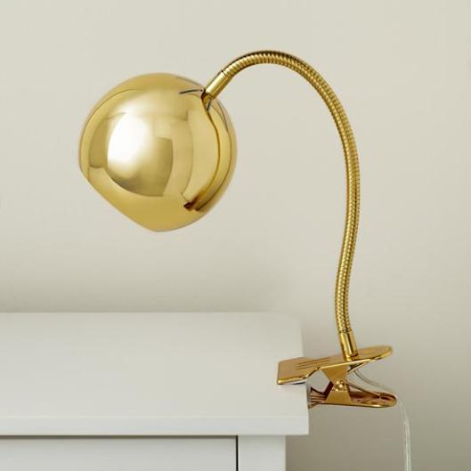 Land of Nod - Gold Clip Lamp, $59