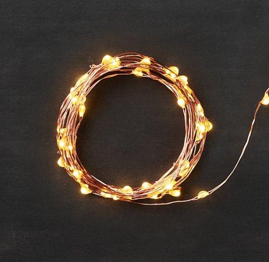 Restoration Hardware - Starry String Lights; Amber on Copper, $12 - $89