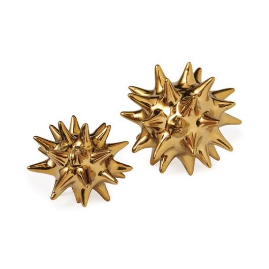 Dwell Studio - Urchin Shiny Gold Object, $24
