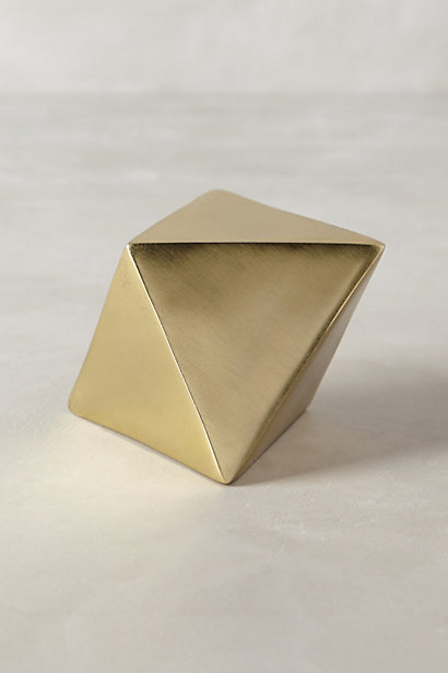 Anthropologie - Gold Paperweight, $20