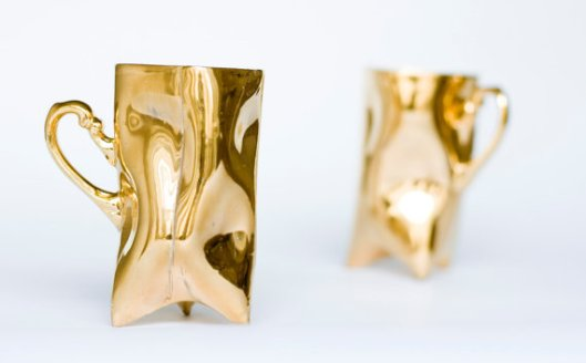 ENDEsign - Set of 2 12K  gold-plated cups, $120