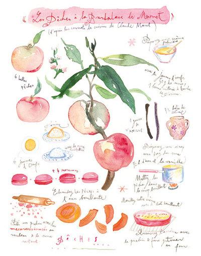 Peach Pie - 11x17 print, $75