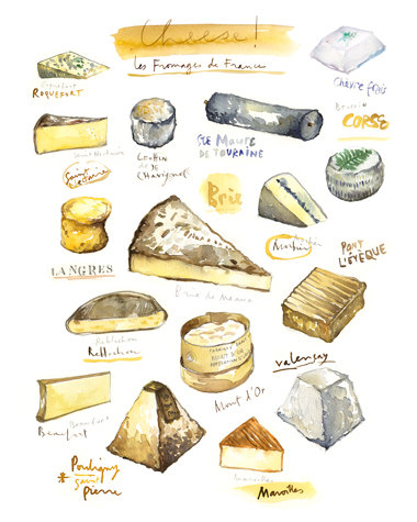 Cheeses - 8x10 print, $37