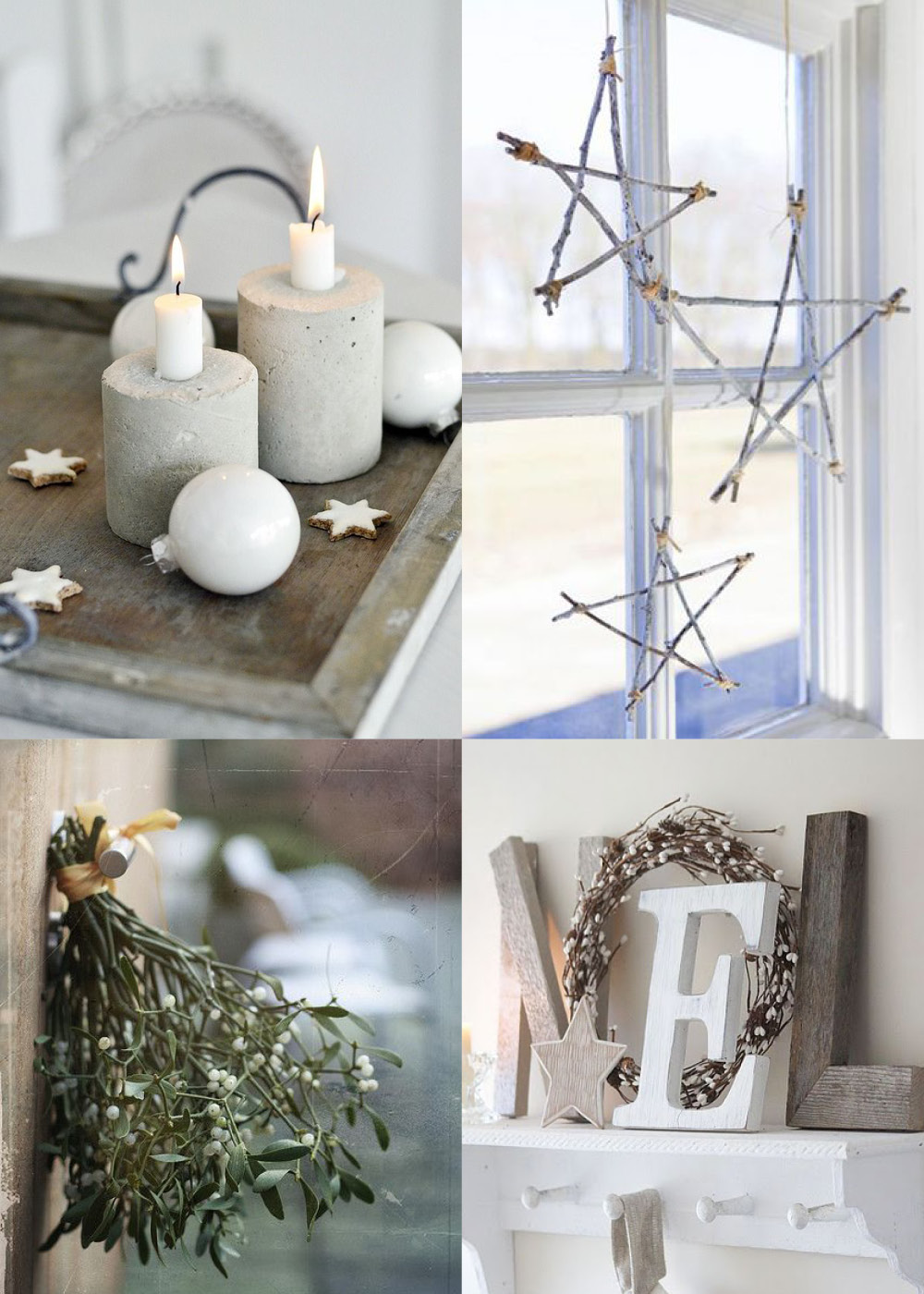 Modern rustic christmas decor blue bergitt for Modern christmas decor
