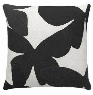 Judy Ross Black Bllom Pillow, $195