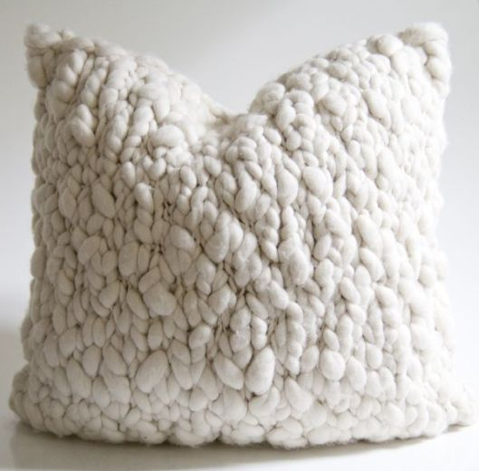 Wildflower Organics Alpaca Chunky Knit Pillow, $429