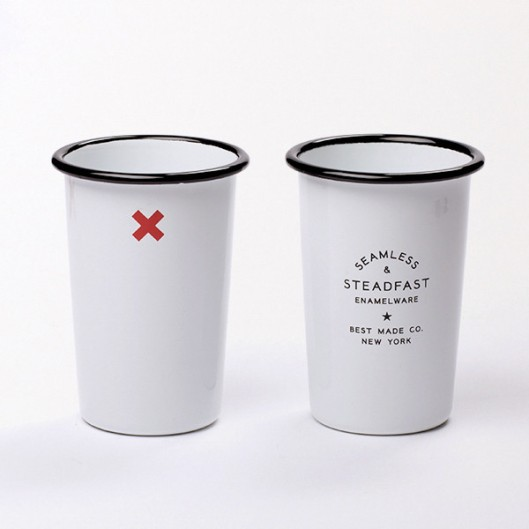 Seamless and Steadfast Tall Enamel Tumblers (set of 2), $36