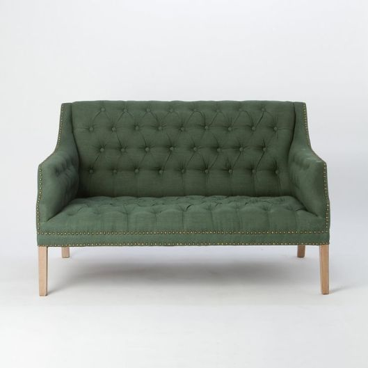 Tufted Linen Loveseat, $1298