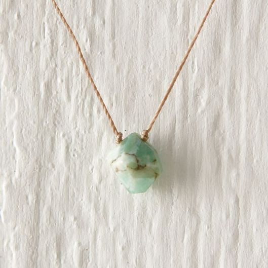 Chrysoprase Nugget Necklace, $78