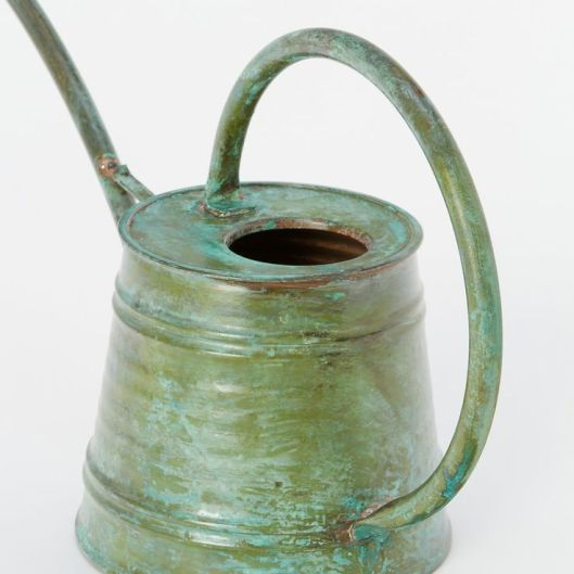Aged Copper Watering Can, $88