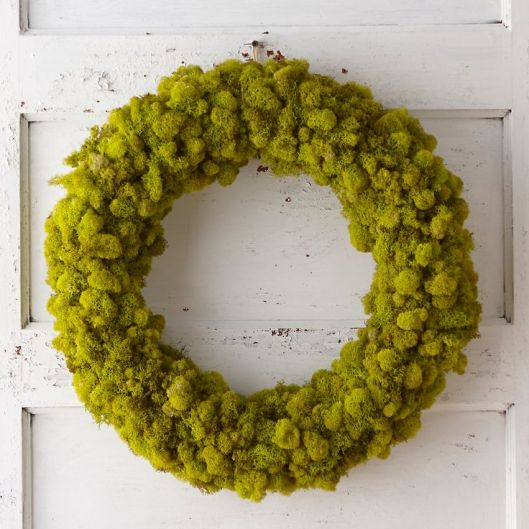 Preserved Reindeer Moss Wreath, $88