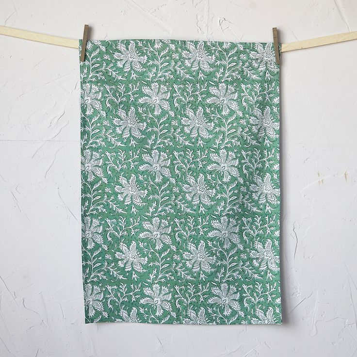 Lakshmi Block Print Tea Towel, $16