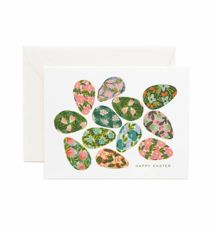 Decorated Egg Greeting Card by RIFLE PAPER Co. | Made in USA
