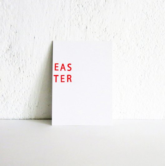 Easter Card Hand Stamped Easter Original Envelope Book by Adasei