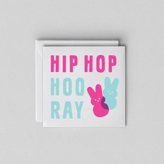 Funny Easter Card - Easter Card Humor - Hip Hop Hooray by ShopMa
