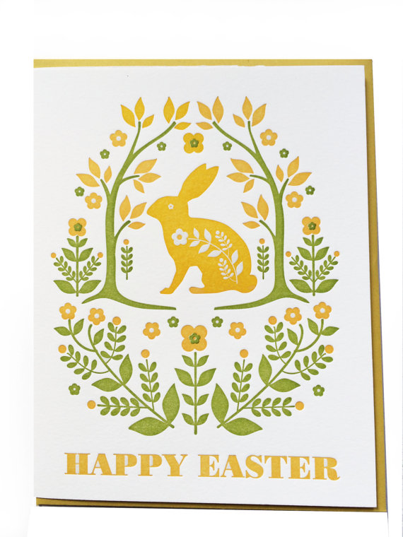 Happy Easter greeting card by dutchdoor on Etsy