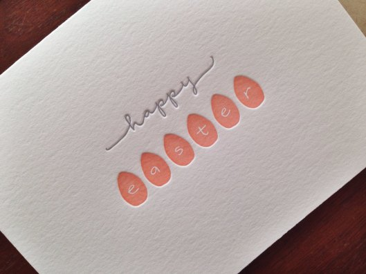 Happy Easter letterpress card set of six by inkmeetspaper on Etsy