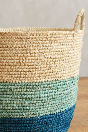 Anthropologie - Handmade Grass Basket set of 2, $128