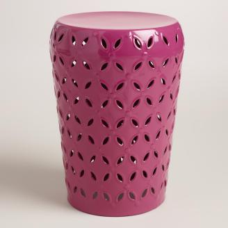 World Market - Lili Metal Garden Stool, $59.99