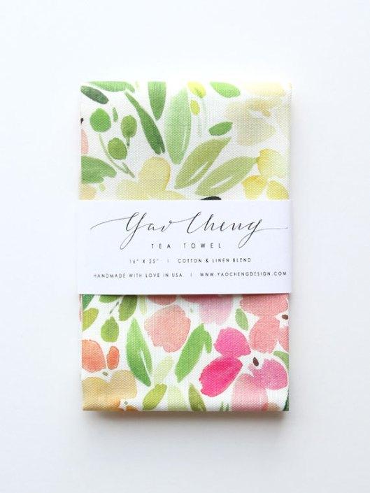 Floral Melody Tea Towel, $35