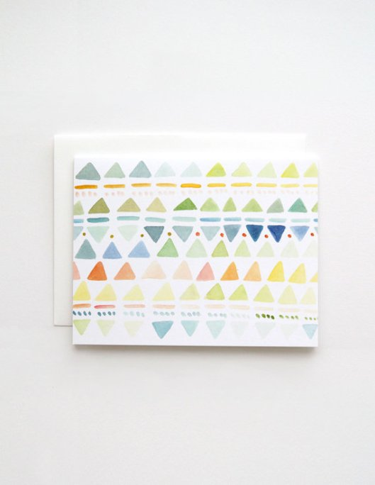 Small Triangles in Multi Greeting Card, $3.50