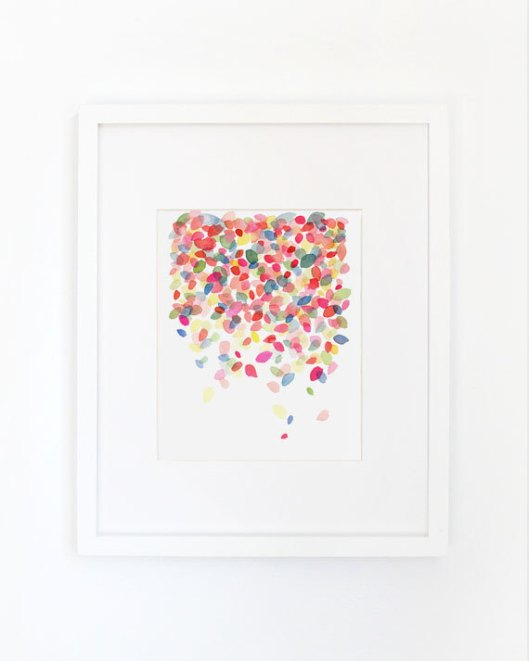 Colorful Dots Falling Art Print, $28