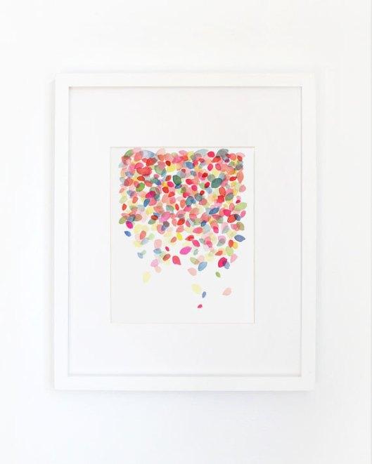 Colorful Dots Falling Art Print, $28