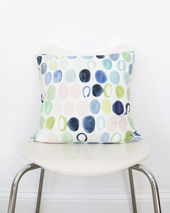 Dots in Indigo Throw Pillow, $70