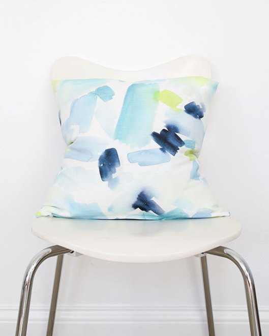 Turquoise Splash Throw Pillow, $70