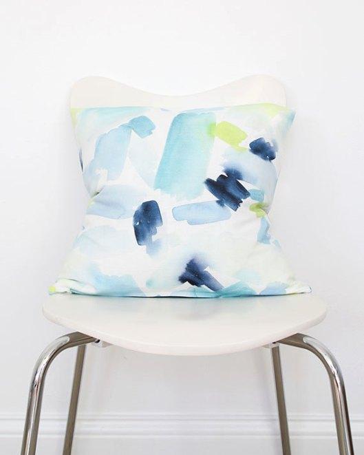 Turquoise Splash Throw Pillow, $70