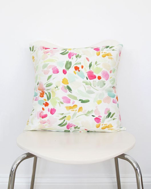 Spring Floral Splash Throw Pillow, $70
