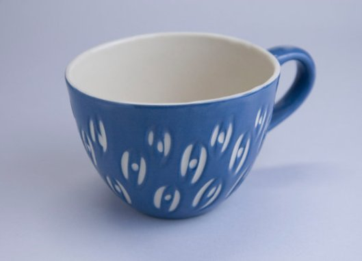 Textured Blue Coffee Mug, $32