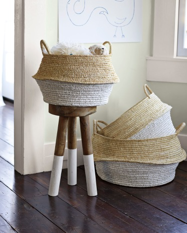 Serena  Lily - Round Belly Basket Set of 2, $128