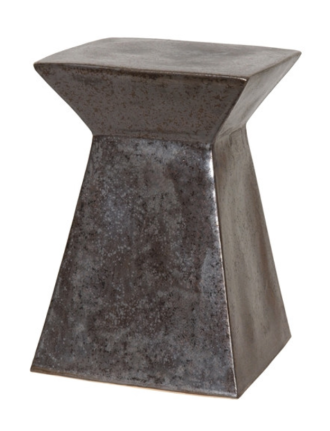 Burke Decor - Gunmetal Garden Stool, $247