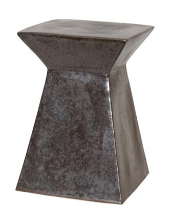 Burke Decor - Gunmetal Garden Stool, $247