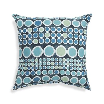 Crate & Barrel - Circles Outdoor Pillow, $39