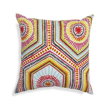 Crate & Barrel - Mosaic Shapes Outdoor Pillow, $39