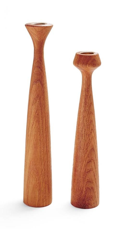 Oiled Oak Candleholder, $75