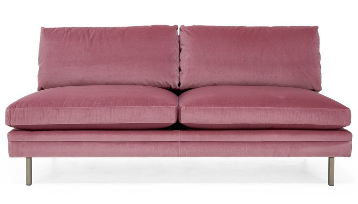 The High Line Lorimer Velvet Armless Loveseat, $2,295