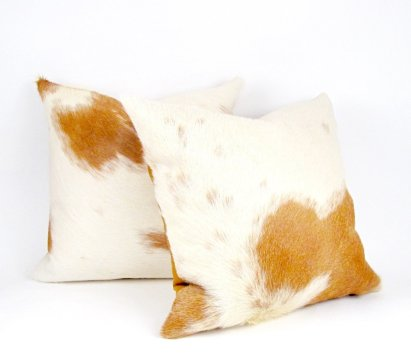 Mi Casa Bella - Brazilian Cowhide Pillow, $125