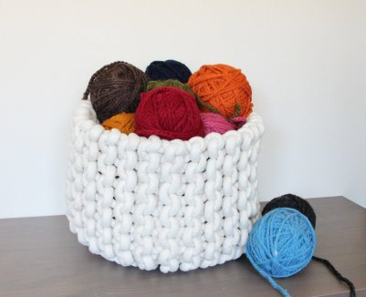 Mary Marie Knits - Large Rope Basket, $140