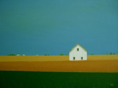 France Gallery - Banded Fields Acrylic Painting, $600