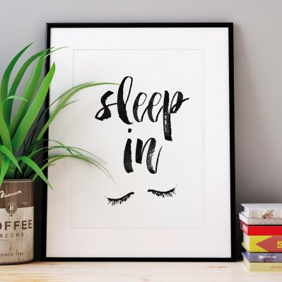The Motivated Type - Sleep In Letterpress Print, $12.50