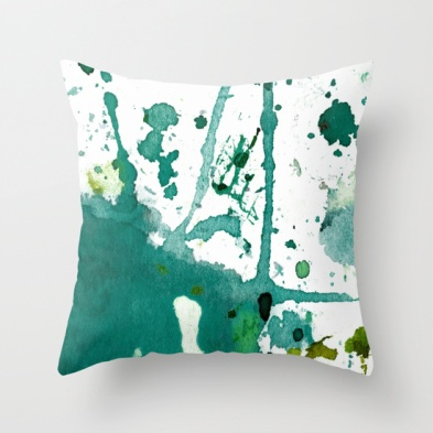 Agnes Trachet - Green Splash Pillow, $20