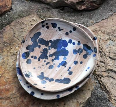 Half Light Honey - Set of 2 small nesting dishes, $30