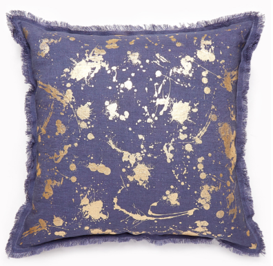 Jonathan Adler - Gilded Drip Pillow, $148