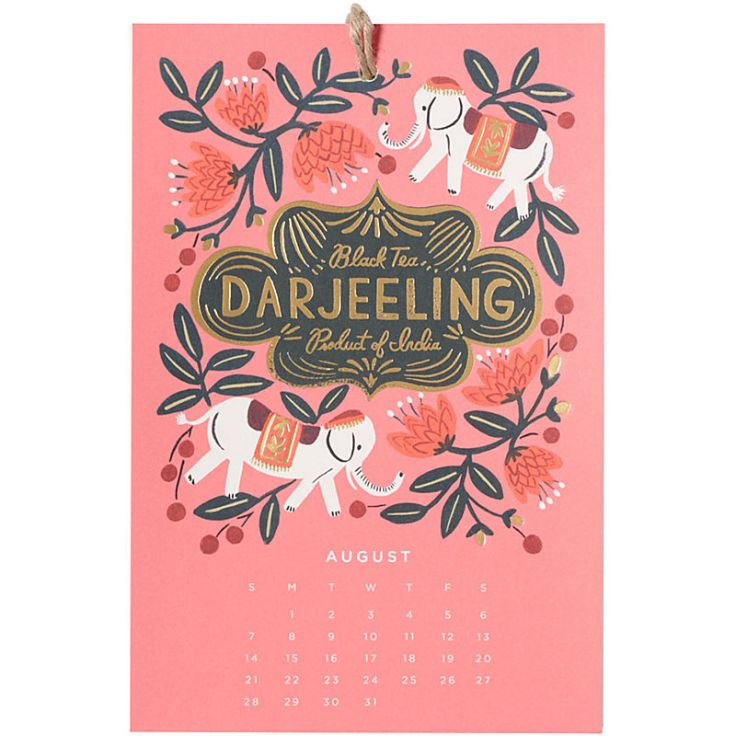 Rifle Paper Co - Coffee & Tea Calendar, $18.95